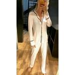 Pijama Nah Listrado Rosinha e Branco