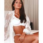 Conjunto Brigitte Branco + Cinta Liga