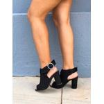Sandal boot couro preta Donna Clô