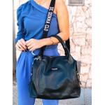 Bolsa em couro preto Donna Clô