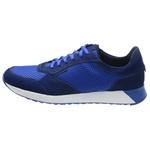 Sapatênis SAULLO Jogging Fit Couro/Nylow Azul
