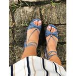 Sandália salto bloco com tiras Safira Donna Clô