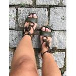 Sandália de amarrar verde musgo Donna Clô