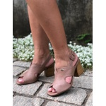 Sandália couro rose Donna Clô