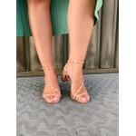 Sandália salto bloco nude Donna Clô