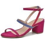 Sandália nobuck pink Donna Clô