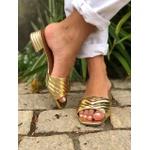 Tamanco Papper gold Donna Clô