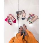 Sandália nobuck colorida Donna Clô