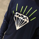LONGSLEEVE DIAMOND GEM NAVY GREEN