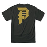 PRIMITIVE DIRTY P CORE TEE BLACK/GOLD