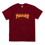 Camiseta Thrasher Flame Logo Burgundy
