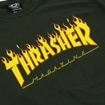 Camiseta Thrasher Flame Logo Green