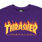 Camiseta Thrasher Flame Logo Purple