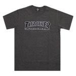 Camiseta Thrasher Outlined Chumbo