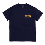 Camiseta Thrasher MC Flame Bottom Navy