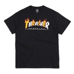 Camiseta Thrasher Flame Mag Black