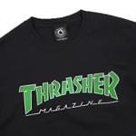 Camiseta Thrasher Outlined Black Green
