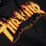 Moletom Thrasher Flame Logo Black