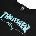 Camiseta Thrasher Feminina Mag Logo Black