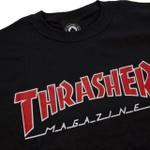 Camiseta Thrasher Outlined Black Red