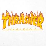 CAMISETA THRASHER FLAME LOGO WHITE