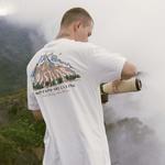 Camiseta Disturb Mountains Are Calling Tee Off White