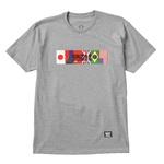 Camiseta Grizzly Internationally Grey