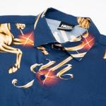 Button Shirt High Pegasus Navy