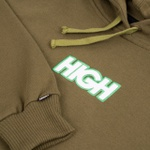 Colored Hoodie High Logo Nigh Green