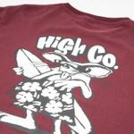 Camiseta High Tee Beach Rat Burgundy