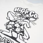 Camiseta High Tee Beach Rat White