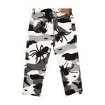 Bug Camo High Pants Black