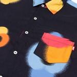 Button Shirt High Flowers Black