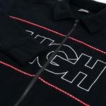 Ribbed Fleece High Outline Logo Black