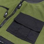 Fleece High Vest Green