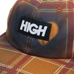 6 Panel High Love Plaid Navy Orange