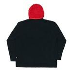 Quarterzip Fleece High Black Red