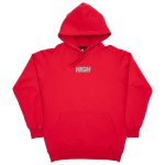Hoodie Reflective High Logo Red