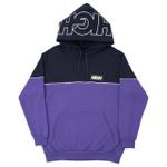 Block Hoodie High Navy/Purple