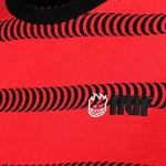 Camiseta HUF x Spitfire Striped Knit Red