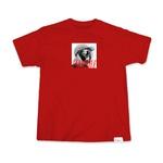 """Camiseta Sigilo x Fleezus """"Eskibaile"""" Vermelha"""