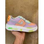 Nike Air Force 1 Pixel Roxo Laranja
