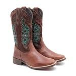 Bota Texana Feminina Dilley Fossil Marrom Café