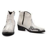 Bota Country Couro Masculino Bowie Gelo