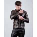 Jaqueta de Couro Masculina Marron Jack