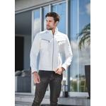 Jaqueta de Couro Masculina Branca Bruno