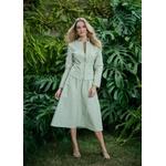 Jaqueta de Couro Feminina Verde Claro Jolie