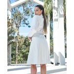 Trench Coat Botão Branco Feminino