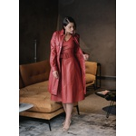 Vestido de Couro Feminino Vermelho Valentina