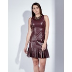 Vestido de Couro Feminino Uva Lívia
